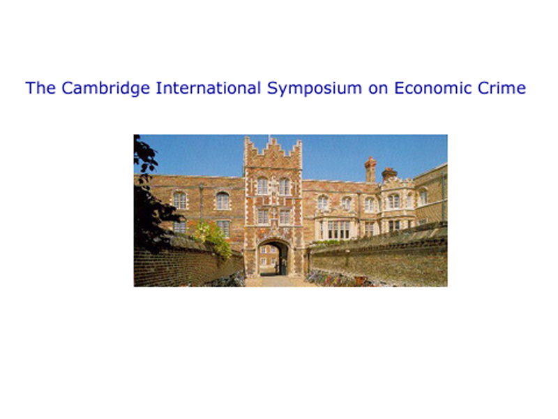 34th Cambridge International Symposium on Economic Crime