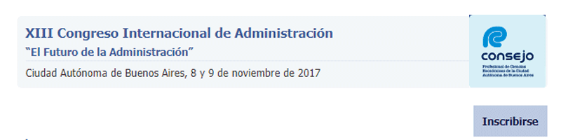 13° Congreso Internacional de Administración – Consejo Profesional de Ciencias Económicas de la Ciudad Autónoma de Buenos Aires